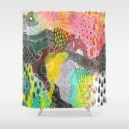 groove thing Shower Curtain