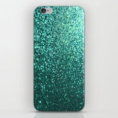 Teal Aqua Glitter Sparkle iPhone & iPod Skin