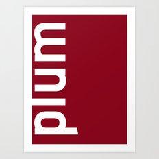 Colors - Plum Art Print