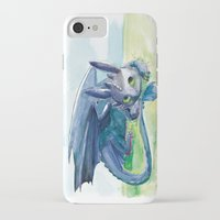 how to train your dragon iPhone & iPod Cases featuring How to Train Your Dragon - Toothless by PinStripes Studios
