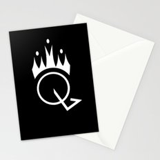 Q is for Queen (black) Stationery Cards