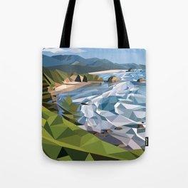 Geometric Cannon Beach Tote Bag