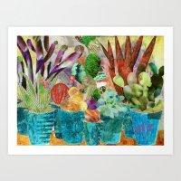 Cactus Desert Print Art Print