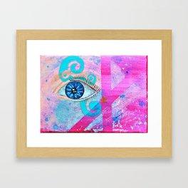 Stardust Eye Framed Art Print