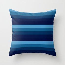 teal blue stripes Throw Pillow