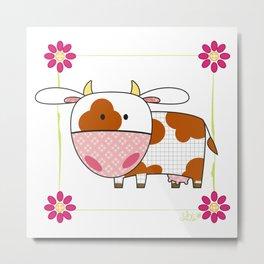 Little cow Metal Print