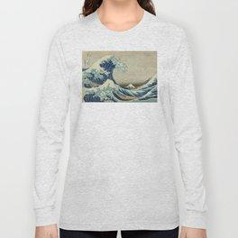 Great Wave of Kanagawa Long Sleeve T-shirt