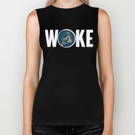 Woke Earth Global Community Awareness Protest Biker Tank