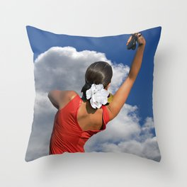 Spanish Rose Throw Pillow
