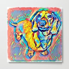 Colorful Popart Dachshund Metal Print
