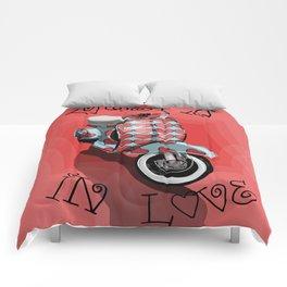 Vespa in Love Comforters