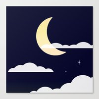 night sky Canvas Prints featuring Night Sky by jozi.art
