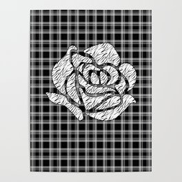 Quilting rose 1 Poster