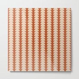 Maude Pattern - Vintage Orange Metal Print