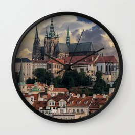 Sunny day in Prague Wall Clock