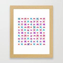 Teeny Butteflies Framed Art Print