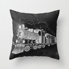 A nostalgic train Throw Pillow