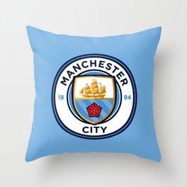 MCFC LOGO Throw Pillow