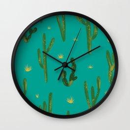 Desert Vibes Teal Wall Clock