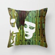LOVE BETWEEN MASKS Throw Pillow