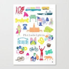 Philadelphia A to Z City Canvas Print