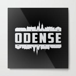 Odense Denmark City Skyline Cityscape Funny Gift Metal Print