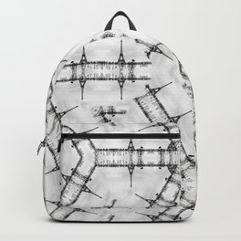 La Tour Eiffel Kaleidoscope Photographic Pattern Backpack