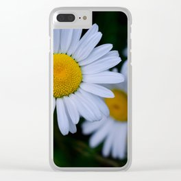 Moody Daisies Clear iPhone Case