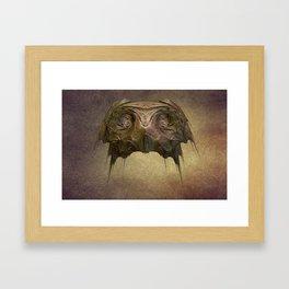 Owl Mask Framed Art Print