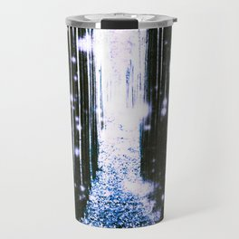 Magical Forest Dark Blue Elegance Travel Mug