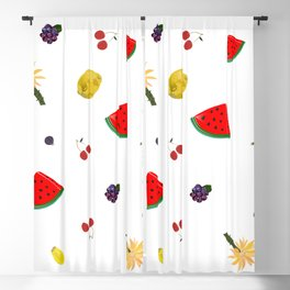Fruity Pattern With Watermelon Blackout Curtain