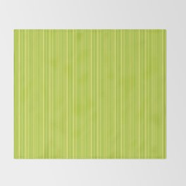 Lime Green Pinstripe Throw Blanket