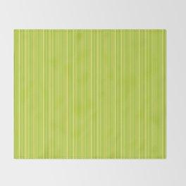 Lime Green Pinstripe Throw Blanket