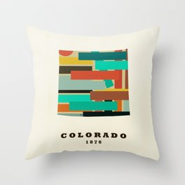 colorado state map modern Throw Pillow