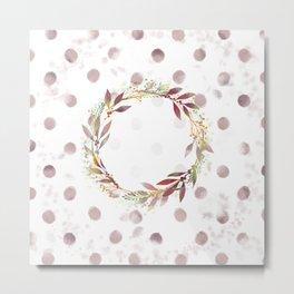 Watercolour spot wreath Metal Print