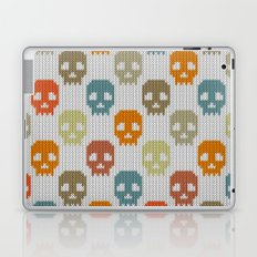 Knitted skull pattern - colorful Laptop & iPad Skin