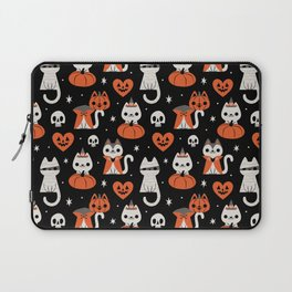 Halloween Kitties (Black) Laptop Sleeve