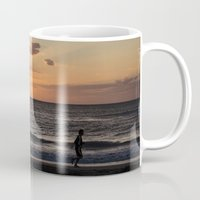 runner Mugs featuring The Runner by Federico Bustamante