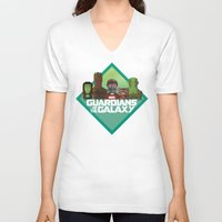 guardians of the galaxy V-neck T-shirts featuring Guardians of the Galaxy by Casa del Kables