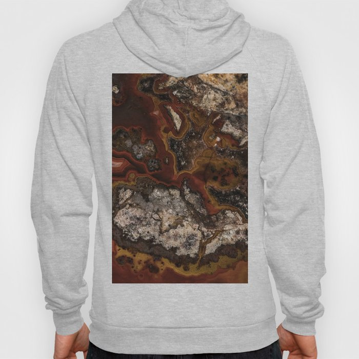 Twisted patterns of brown, red and beige stone Hoody