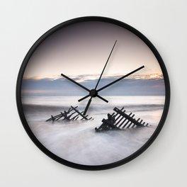 Sunrise at Caistor Windfarm Wall Clock