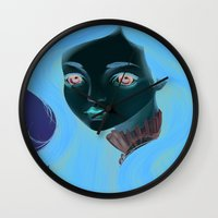 doll Wall Clocks featuring Doll by Lily Art