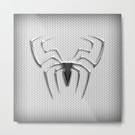 Spider Steel Chrome Metal Print