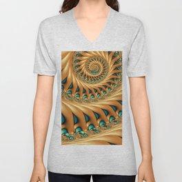 Fractal Splendor, Modern 3D Art Unisex V-Neck