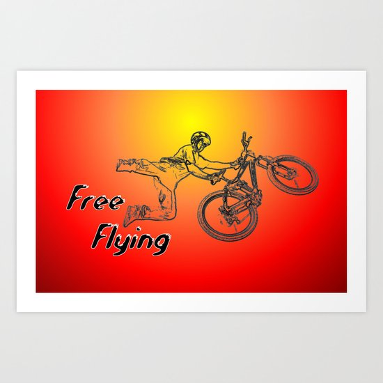 Free Flying Art Print