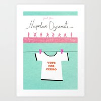 napoleon dynamite Art Prints featuring Napoleon Dynamite poster by Lionel Hotz