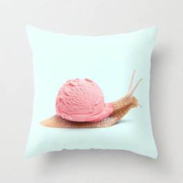 ICE SNAIL Throw Pillow