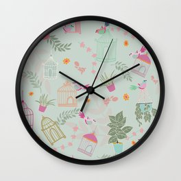 Bring the Birds In Wall Clock