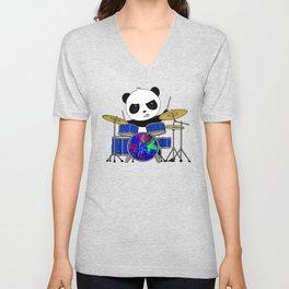 A Drumming Panda Unisex V-Neck