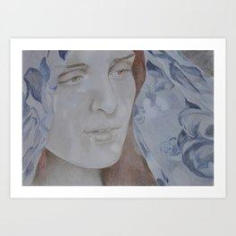 Ava (Blue) Art Print